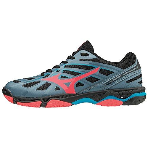 Hurricane Mizuno Bluemirage Blk Femme 3 Wave Fcoral 001 Multicolore Basses Sneakers 54x4Rwr