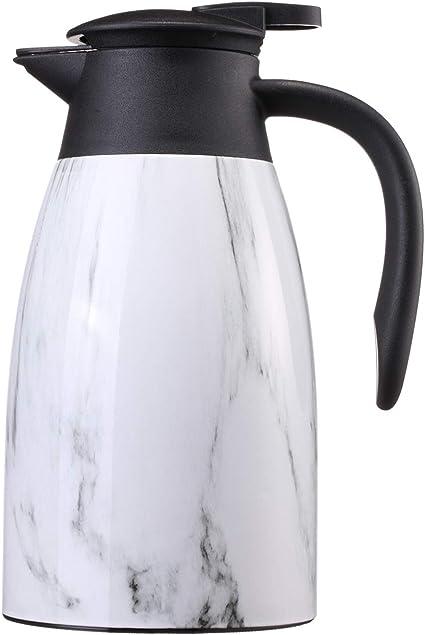 caf/é de acero inoxidable de doble pared aislada al vac/ío para zumo t/é y bebidas leche Jarra t/érmica de FUNRUI