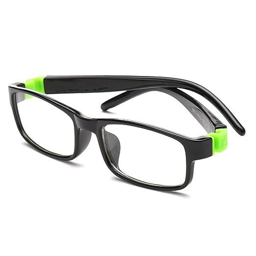 Amazon.com: Fantia Kids Super Flex Arm Square Eyeglasses Frame for ...