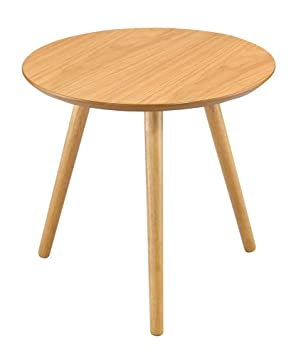 Aspect marco round sideendlampcoffee table wood oak finish 48 aspect marco round sideendlampcoffee table wood oak finish aloadofball Images