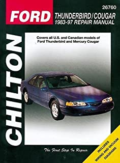 Ford thunderbird mercury cougar 8997 haynes repair manuals ford thunderbird and cougar 1983 97 chilton total car care series manuals fandeluxe Image collections