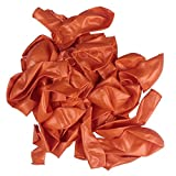 Alice 100 PCS Thickening Latex Balloons for Birthday Wedding Party Decor Orange
