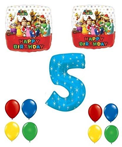 (New Super Mario Brothers Happy 5th Birthday Balloon)