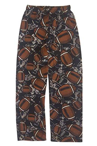 Pants Boys Fleece Pajama (Popular Boy's Fuzzy Plush Pajama Sleepwear Pants - Football - 4)