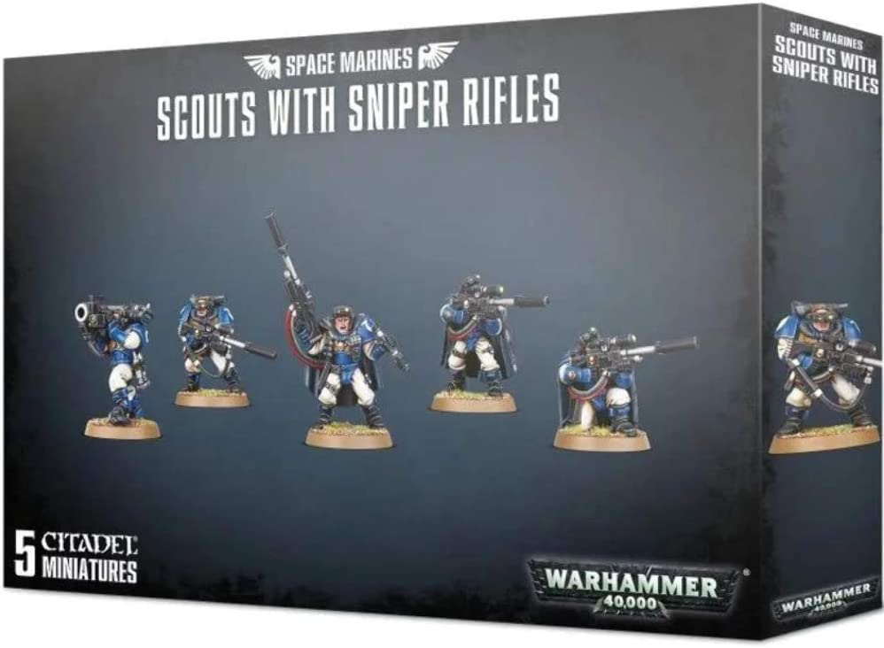 Games Workshop Space Marines - Scouts with Sniper Rifles