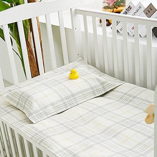 Oasis Hemp Sheet Pillowcase Sets Baby Summer Sleeping Mat Sheets Pack Of 2, 1 Sheet And 1 Pillow Towel for Kindergarten Or Home - (LJT 7402-JWTD) by LZ&Oasis (Image #4)