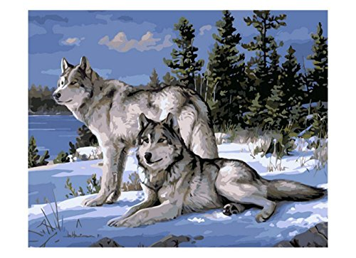 Wolf In Sheep's Clothing Dog Costume (Gray Wolf Indain Wolf Animals Wall Art Canvas Home Decor Wall Decals Hand Painting Gift 16x20)