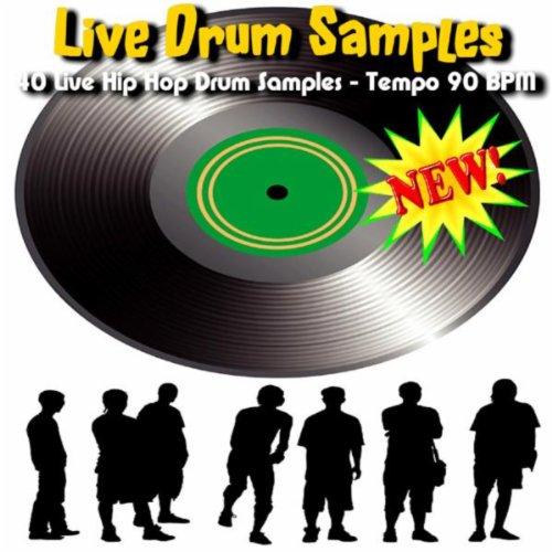 (40 Live Hip Hop Drum Samples - Tempo 90)