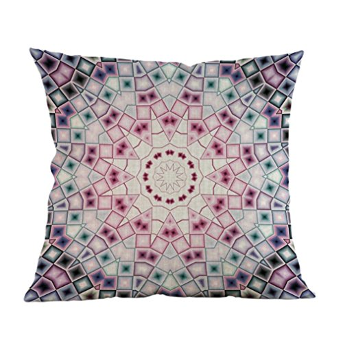 Quilt Checkbook Cover (Alimao Geometry Painting Linen Cushion Cover Throw Pillow Case Sofa Home Decor (H))