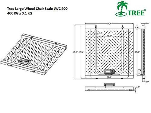 LWC-400 - 400 KG x 0,1 KG - Básculas para silla de ruedas: Amazon.es: Amazon.es