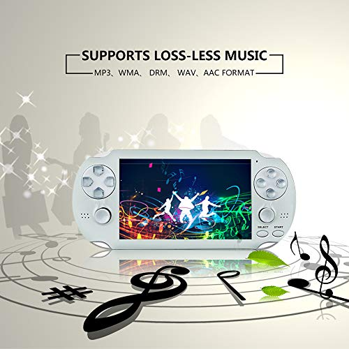 BAORUITENG Handheld Game Console , Retro Game Console with 3000 Classic Games 4.3'' 64 Bit Portable Game Console Support / Camera GBA / GBC / SEGA / NES / SFC / NEOGEO and Loss-Less Music (White) by BAORUITENG (Image #4)