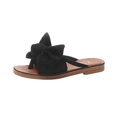 f7d57c174c7497 Challen Women Bow tie Sandals for Women