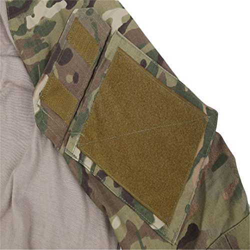 QCHENG Chemise de Combat Militaire Homme Airsoft Shirt Tenue Camouflage Uniforme Tactique Séchage Rapide à Manches… 2