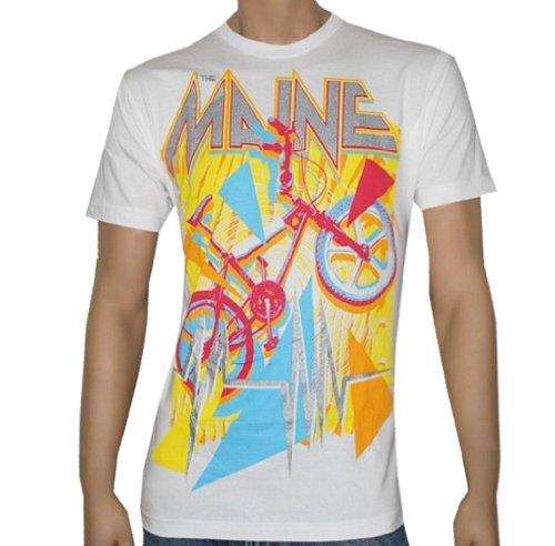 Bike White T-shirt (THE MAINE - BMX Bike - White T-shirt - size YouthLarge)