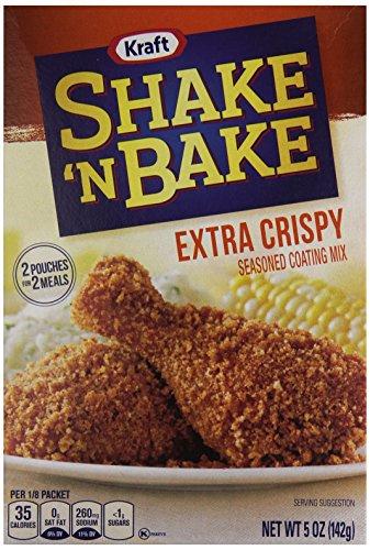 - Shake 'N Bake Extra Crispy Seasoned Coating Mix for Chicken or Pork (5 oz Box)