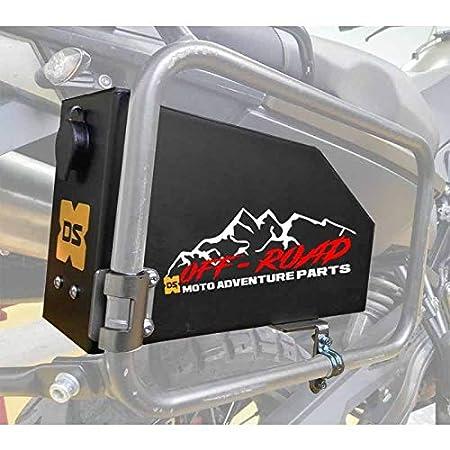 Raid Toolbox Caja de Herramientas BMW F800 GS,guantera, Guarda Documentos (Negro) DS Bike Protection