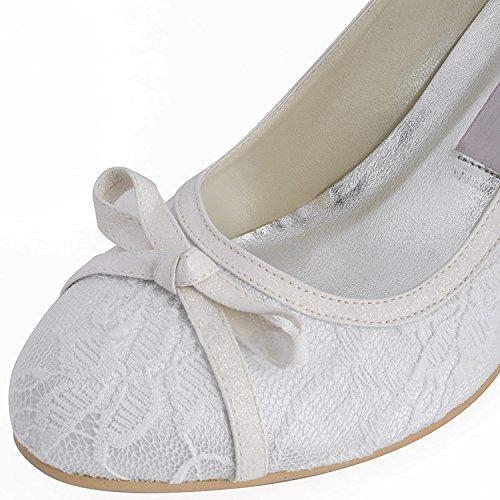 Kevin Fashion - Zapatos de boda a la moda Mujer Beige - marfil