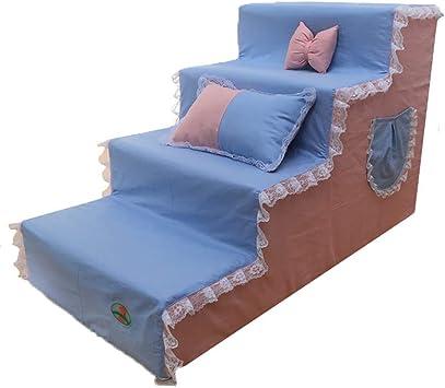 IG Portátil 4-Paso Escalera perro para alta cama, escalera de mascotas para Couch Alto, lavable extraíble cubierta, Tamaño opcional,40 × 80 × 50 cm: Amazon.es: Bricolaje y herramientas