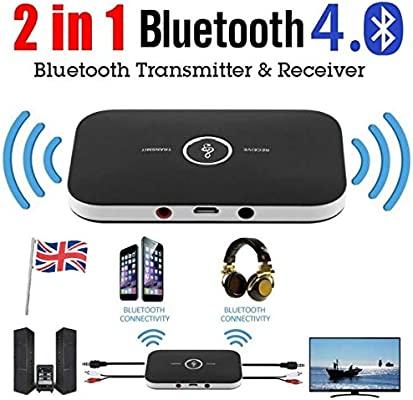 2 in1 Wireless Bluetooth Audio Transmitter Receiver Stereo Music Adapter RCA AUX