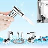 Handheld Bidet Sprayer, YECO Premium Stainless Steel Diaper Sprayer Shattaf-Bidet Toilet Sprayer Kit (Personal Hygiene & Potty Toilet Spray) with Metal Hose,T-Valve,Tank/Wall Mount for Beday Toilet