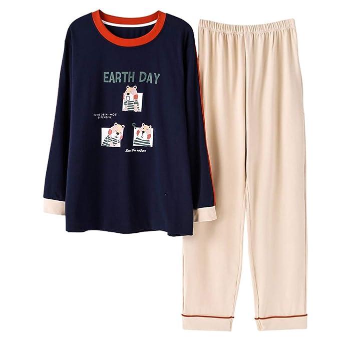 Mmllse set da pigiama pigiami stampa di addormentati di coppia