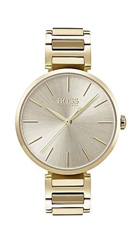 Hugo BOSS Reloj Análogo clásico para Mujer de Cuarzo con Correa en Acero Inoxidable 1502415: Amazon.es: Relojes
