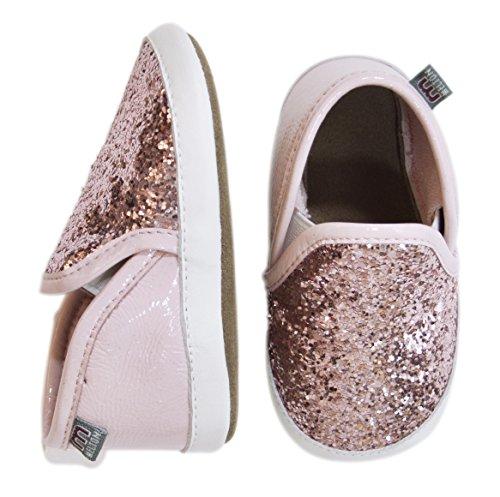 MeltonKrabbelschuh Slipper - Glitter Girl - pantuflas Bebé-Niños Rosa - Pink (Wild Rose 509)