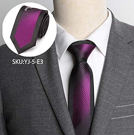 AYWEI Corbata Corbatas para Hombre Corbata A Rayas Formal Boda De ...