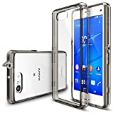 Xperia Z3 Compact Case - Ringke FUSION Case [Free HD Film/Dust&Drop Protection][SMOKE BLACK] Shock Absorption Bumper Premium Hard Case for Sony Xperia Z3 Compact (Not for Z3 / Z3v / Z3 Dual) - Eco/DIY Package