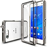 Xperia Z3 Compact Case - Ringke FUSION Case [Free HD Film/Dust&Drop Protection][SMOKE BLACK] Shock Absorption Bumper Premium Hard Case for Sony Xperia Z3 Compact (Not for Z3+ / Z3 / Z3 Dual / Z3v / Z3 Tablet) - Eco/DIY Package