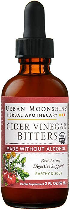 URBAN MOONSHINE Cider Vinegar Bitters Alcohol-Free, 2 FZ