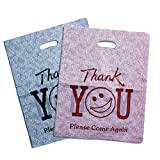 100Pcs Cartoon Style''thankyou'' Merchandise Bags for Card Watches Jewelry Cosmetics Small Items Retail Shopping bags,20x25cm