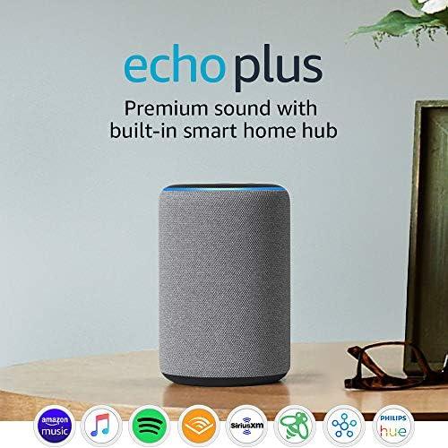 Echo Plus (2d Gen) - Premium sound with integrated sensible house hub - Heather Gray
