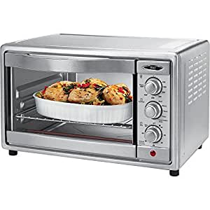 Oster TSSTTVRB04 6-Slice Convection Toaster Oven, Brushed Stainless Steel
