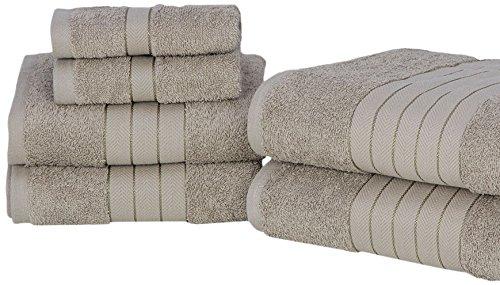 Dreamscene Luxury Super Soft 6 Piece Hand Bath Towel Bale 100% Egyptian Cotton Mink, 485 gsm Pin Mill Textiles Ltd 5027434099184