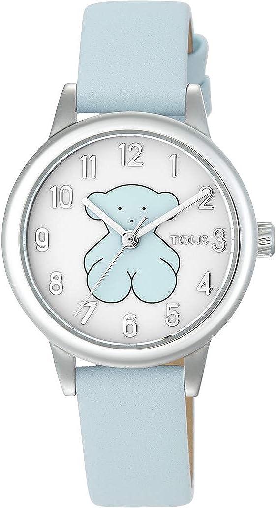 Reloj New Muffin de Acero con Correa de Piel (Piel Blanca): Amazon.es: Relojes