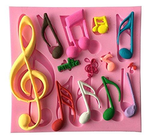 QTMY Music Notation Silicone Decorating Cake Candy Making (Music Cake)