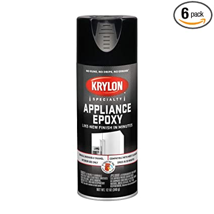 KRYLON K03206007 Appliance Epoxy Paint, Aerosol, 12 Oz , Black - 1028222