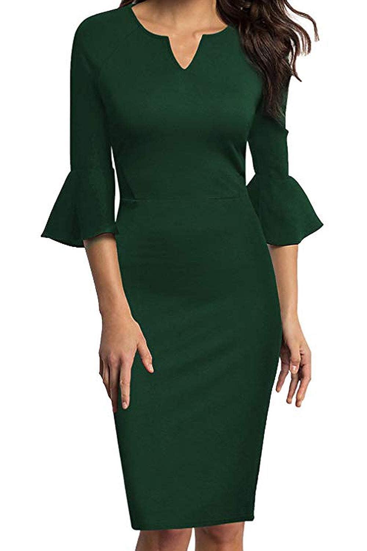 Business Bekleidung MisShow Damen Elegante 3/4 Arm ...