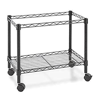 Alera ALEFW601424BL Single-Tier Rolling File Cart, 24w x 14d x 21h, Black