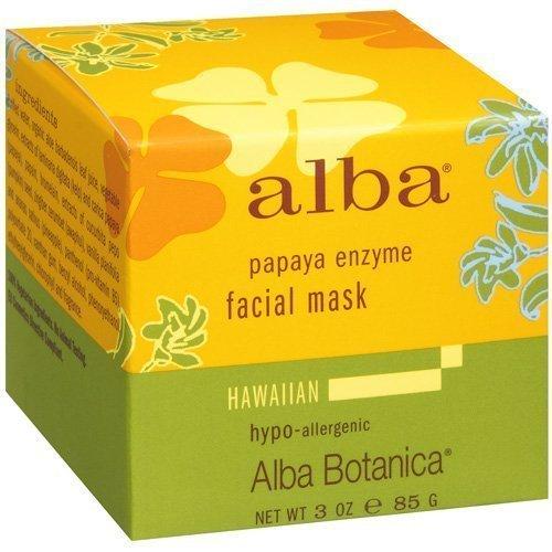Alba Botanical Facial Mask Papaya Enzyme, 3 Ounce (Pack of 6)