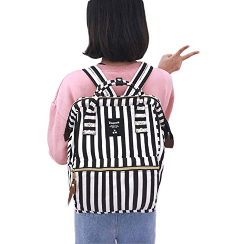 bandoulière School à à Middle Sac à Gingembre dos Sweet sac Sac School Wind Sac à belle Couleur dos Casual Stripe Sac à GJ féminin dos College féminin bandoulière zx5q700