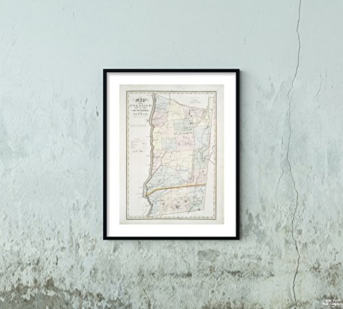 . : Map The Counties Dutchess Putnam Stone & Clark Republishers|Vintage Fine Art Reproduction|Ready to Frame ()