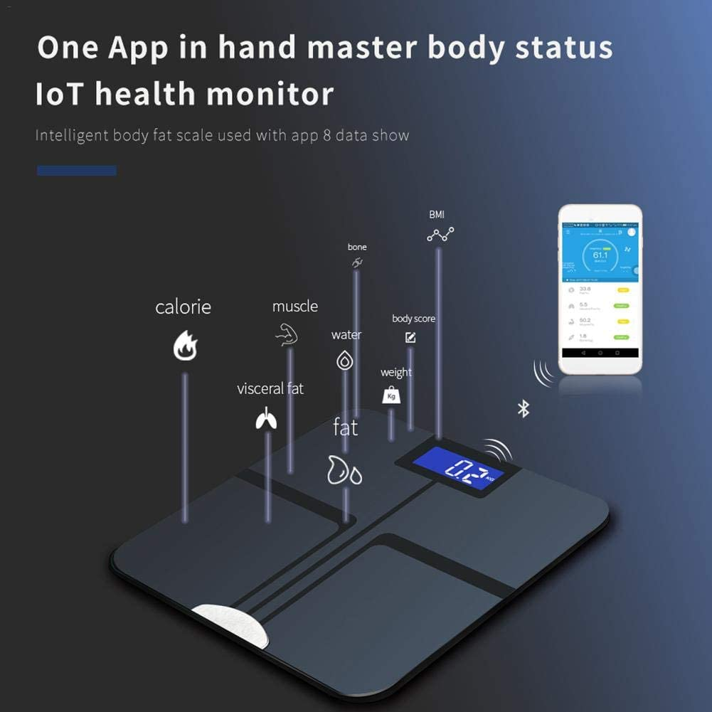 Wustrious Smart Scale Fat Scale Synchronized with Mobile Phone Family Electronic Scale BMI Digital Healthy Body Composition Meter Multifunctional Wireless Scale Bluetooth Body