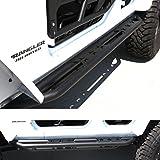 GSI Jeep Wrangler Jk Black Rock Sliders with Step Tube Running Boards