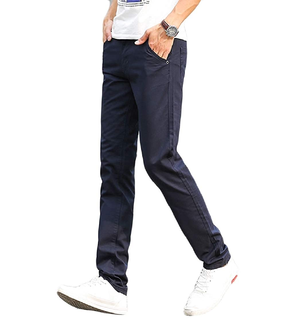 DressU Mens Spring Summer Colortone Oversize Straight Outdoor Pants
