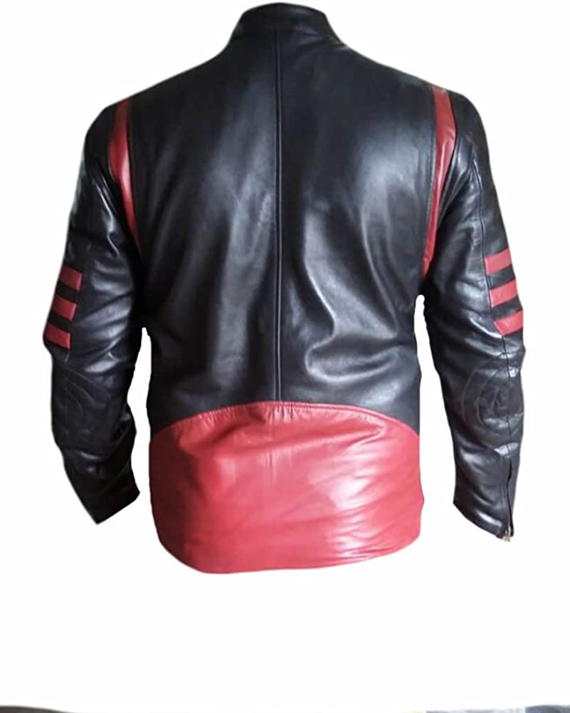 Stormwise Mens Fashion Xmen Real Leather Wolverine Jacket
