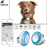 GPS Dog Collar, Real-time GPS Tracker for Dog Lightweight and Waterproof Dog Tracking Device GPS+LBS+WiFi Pet Finder,Anti-Theft Real-time Locator,Electronic Fence,for Dog Cat Kids Elderly