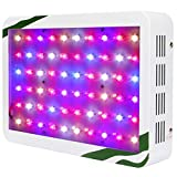 BLOOMSPECT 300W LED Grow Light: Full Spectrum for Indoor Greenhouse Hydroponic Plants Veg and Blooming