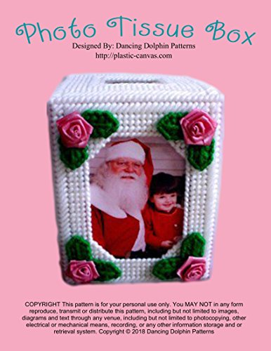 Photo Tissue Box: Plastic Canvas Pattern (Pattern Box Canvas Plastic)